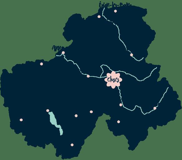 Carte situation Les Pensées d'Augustine